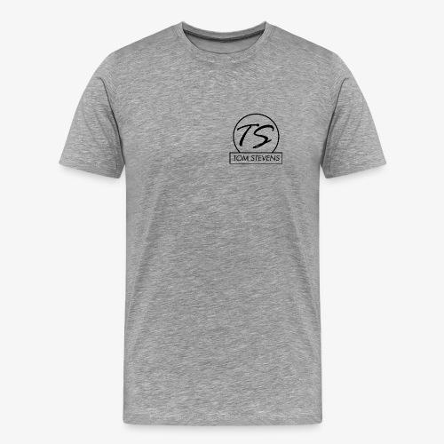 Tom Stevens Logo BLACK - Men's Premium T-Shirt