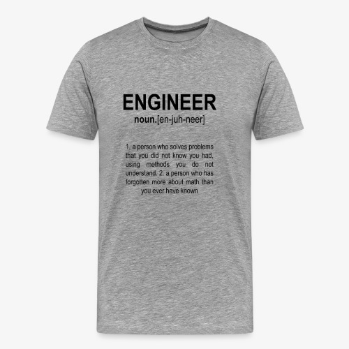 Engineer Def. 2 Black - T-shirt Premium Homme