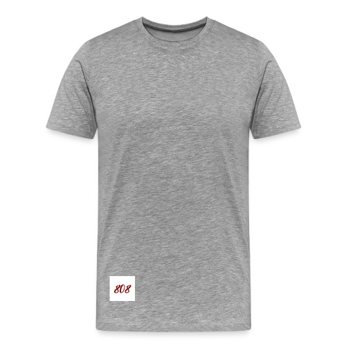 808 red on white box logo - Men's Premium T-Shirt