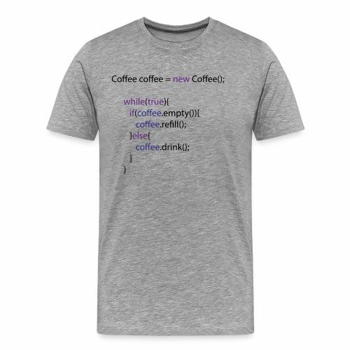 Coffee Code Design - Männer Premium T-Shirt