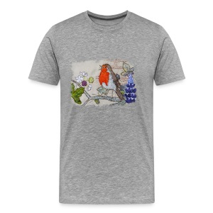Robin with Ivy Design - Men's Premium T-Shirt