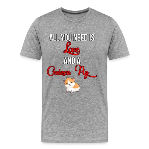 All you need is love and a Guinea Pig !!! - Men's Premium T-Shirt
