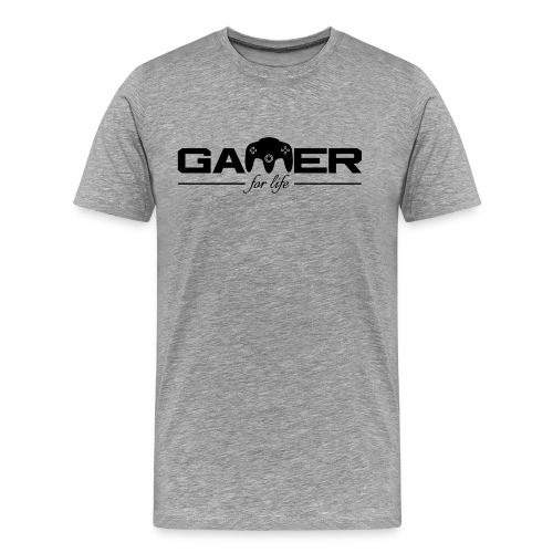 Gamer For Life Black by JuiceMan Benji - Men's Premium T-Shirt