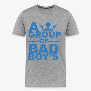 Bad boys blauw1 1 - Mannen Premium T-shirt