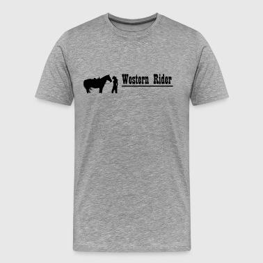 Western Rider - Premium T-skjorte for menn