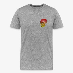 Silver red and yellow skull - Men's Premium T-Shirt