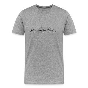 Johann Sebastian Bach Unterschrift - Männer Premium T-Shirt