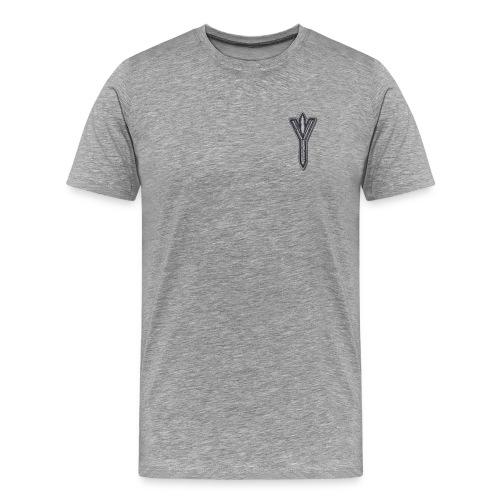 Algiz Rune - Connection with Asgard / Protection - Men's Premium T-Shirt