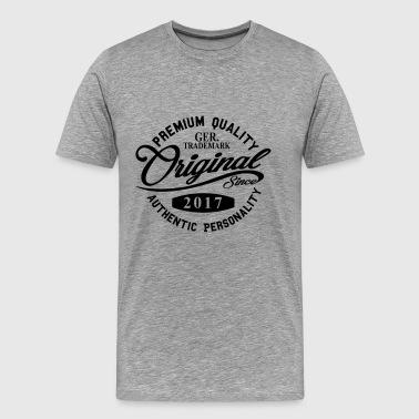 Originale Dal 2017 Scrittura a mano di qualità di premio - Maglietta Premium da uomo