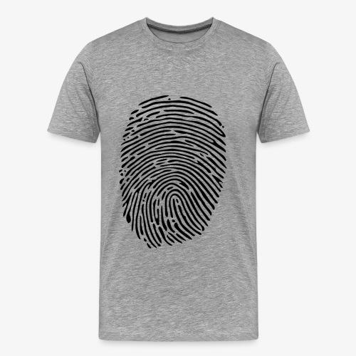 Finger Abdruck - Männer Premium T-Shirt