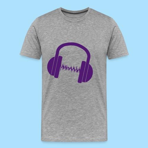 Headsetwave - Mannen Premium T-shirt