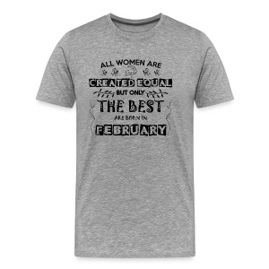 Woman Birthday February - Men's Premium T-Shirt