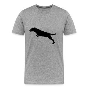 Jumping Dog Silhouette - Mannen Premium T-shirt