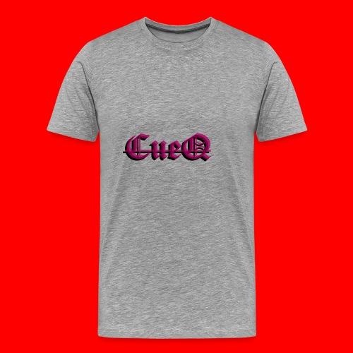 CueQ logo - Premium-T-shirt herr