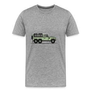 Defender 6x6 Green - Premium-T-shirt herr