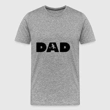 papa de hockey - T-shirt Premium Homme