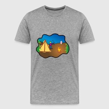 obóz camper scout namiot tipi kochen97 - Koszulka męska Premium