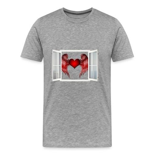 VENTANA_CORAZON - Camiseta premium hombre