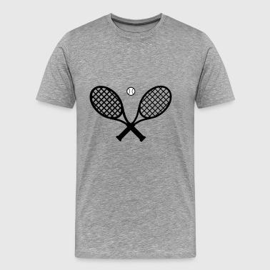 Tennisracket och tennisboll - Premium-T-shirt herr