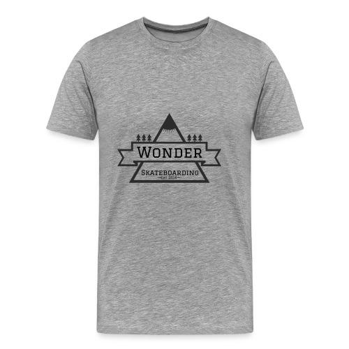 Wonder hoodie no hat - Mountain logo - Herre premium T-shirt