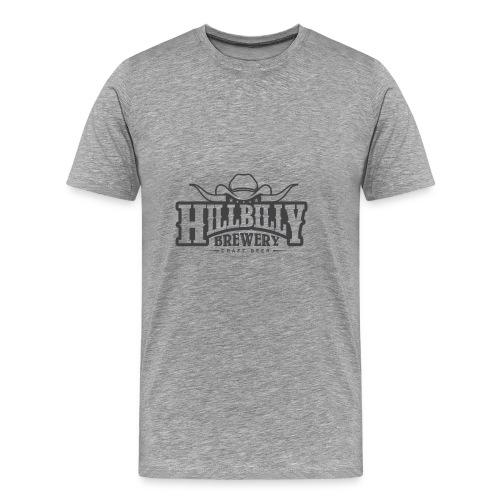 HillbillyBrewery Black Logo - Premium-T-shirt herr