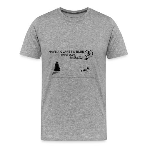 Claret and Blue Xmas - Men's Premium T-Shirt