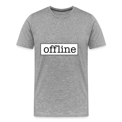 Officially offline - Mannen Premium T-shirt