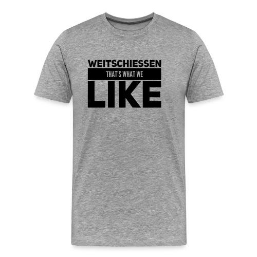 Weitschiessen schwarz - Männer Premium T-Shirt