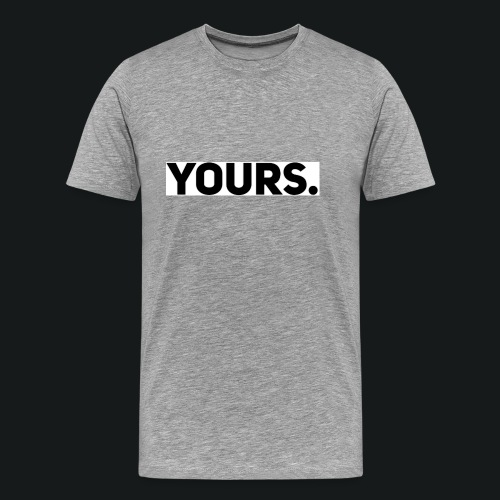 ZWART YOURS. SWEATER MAN - Mannen Premium T-shirt