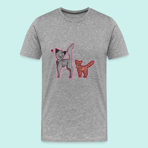 cat and kitten - Miesten premium t-paita