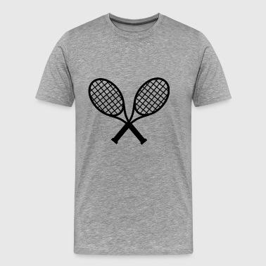Tennisracket Logo - Premium-T-shirt herr