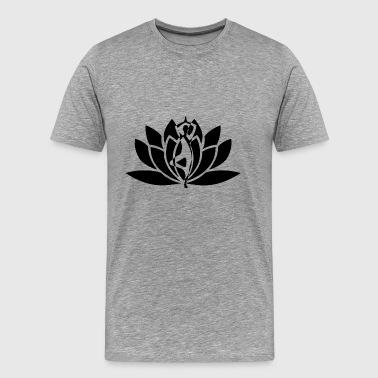 yoga blomma - Premium-T-shirt herr