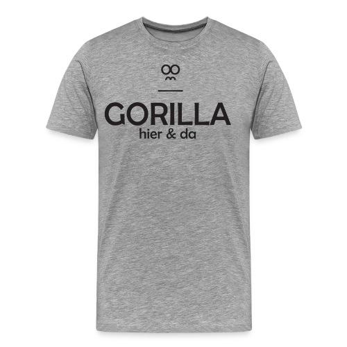 Gorilla hier & da Logo - Männer Premium T-Shirt