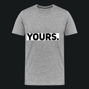 ZWART YOURS. SWEATER MAN - Mannen Premium T-shirt