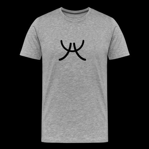 AW1 Design zwart - Mannen Premium T-shirt