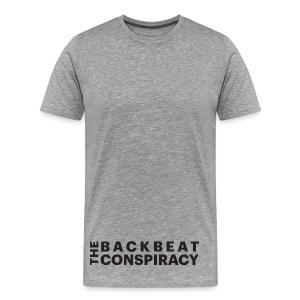 The Back Beat Conspiracy - Black Logo - Men's Premium T-Shirt