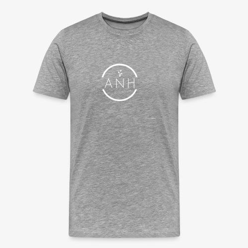 ANH white logo - Men's Premium T-Shirt