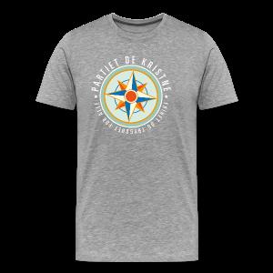 Logo. På grågrønn og marine - Premium T-skjorte for menn