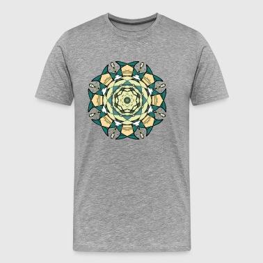 abstrakt cirkel - Premium-T-shirt herr