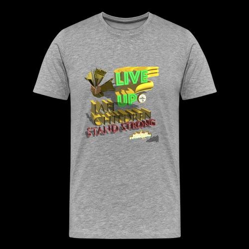 live up JAH children (Kansidah 3D) - Männer Premium T-Shirt