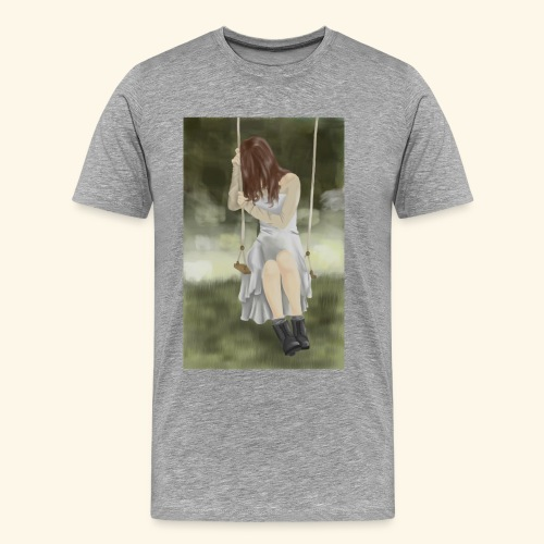 Sad Girl on Swing - Men's Premium T-Shirt
