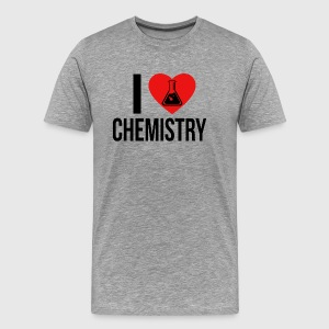 I LOVE CHEMISTRY BLACK - Men's Premium T-Shirt