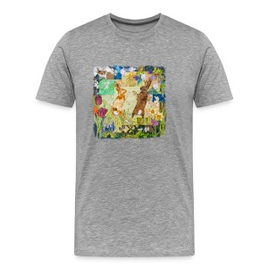 Boxing Hares Design - Men's Premium T-Shirt