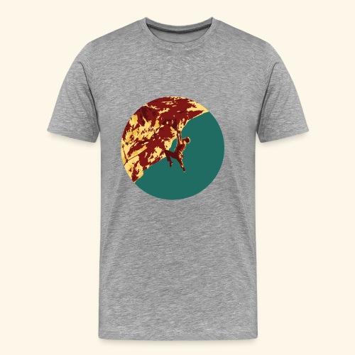 Felskletterer in steiler Wand - Männer Premium T-Shirt