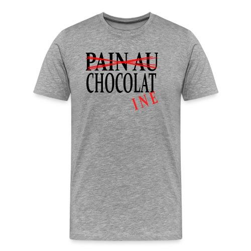 Pain au chocolat? Non, chocolatine - T-shirt Premium Homme
