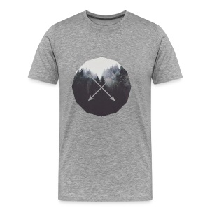 Misty Forest Blended With Crossed Arrows - Maglietta Premium da uomo