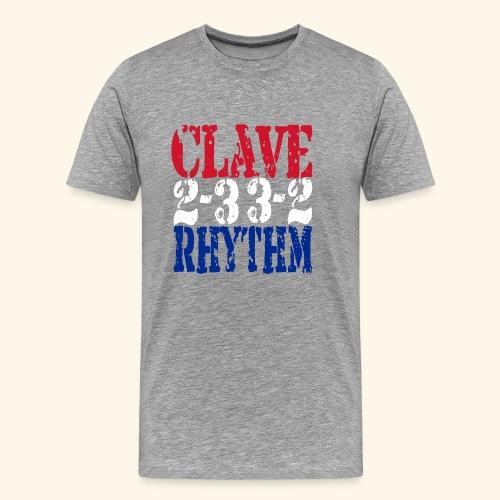Clave Rhythm Salsa Music Dance Gift T-Shirt - Men's Premium T-Shirt