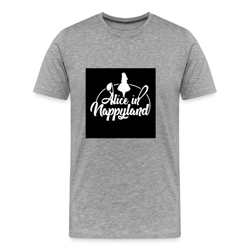 Alice in Nappyland TypographyWhite 1080 - Men's Premium T-Shirt