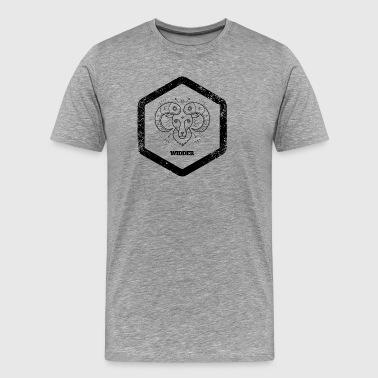 Hexagon · · Tekens van de Dierenriem Ram Ram · - Mannen Premium T-shirt