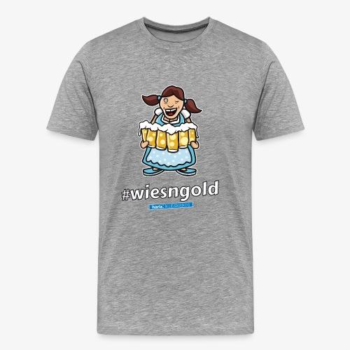 Wiesngold HARIZ PIXBROS WIESNBROS Oktoberfest - Männer Premium T-Shirt